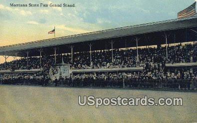 State Fair Grand Stand - Misc, Montana MT Postcard