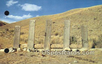 Grave Markers of Sheriff Plummer & Cohorts - Bannack, Montana MT Postcard