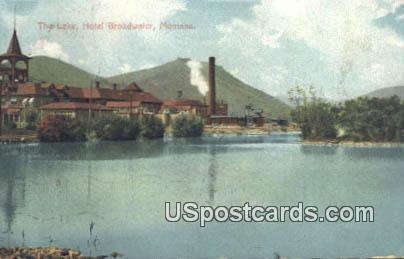 The Lake, Hotel Broadwater - Misc, Montana MT Postcard