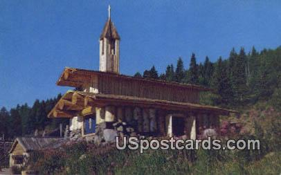 Frontier Town Chapel - Misc, Montana MT Postcard