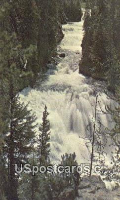 Kepler Cascades - Yellowstone National Park, Montana MT Postcard