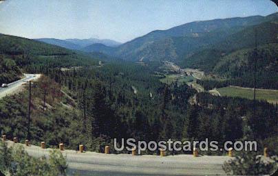 Lookout Pass - Missoula, Montana MT Postcard
