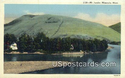 Mt Jumbo - Missoula, Montana MT Postcard