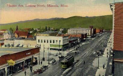 Higgins Ave. - Missoula, Montana MT Postcard