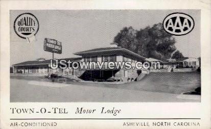 Town - O - Tel Motor Lodge - Asheville, North Carolina NC Postcard