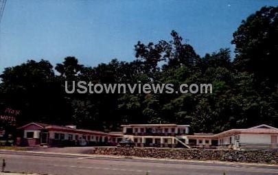 Plaza Motel - Asheville, North Carolina NC Postcard