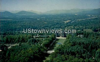 Air View of the Biltmore Estate - Asheville, North Carolina NC Postcard