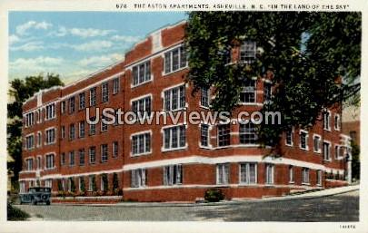 The Aston Apartments - Asheville, North Carolina NC Postcard