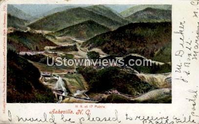 R.R. at 17 Points - Asheville, North Carolina NC Postcard