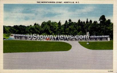 The Mountaineer Court - Asheville, North Carolina NC Postcard