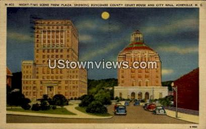 Buncombe County Court House and City Hall - Asheville, North Carolina NC Postcard