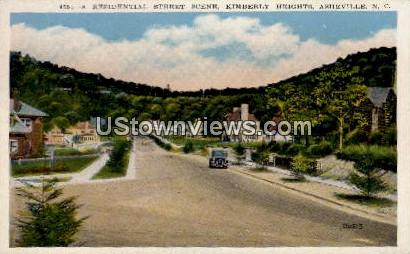 A Residential Street Scene, Kimberly Heights - Asheville, North Carolina NC Postcard