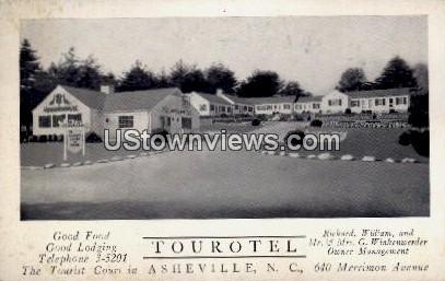 Tourotel - Asheville, North Carolina NC Postcard