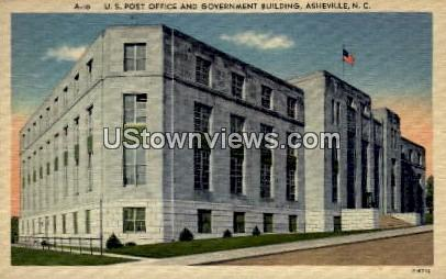 U.S. Post Office and Government Building - Asheville, North Carolina NC Postcard