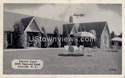 Carolyn Court - Asheville, North Carolina NC Postcard