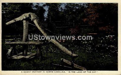 A Quant Pottery in North Carolina - Asheville Postcard