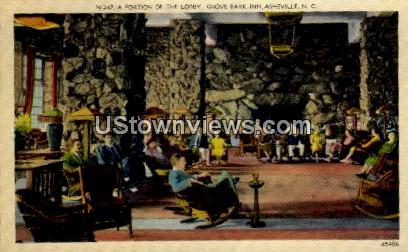 A Portion of the Lobby, Grove Park Inn - Asheville, North Carolina NC Postcard