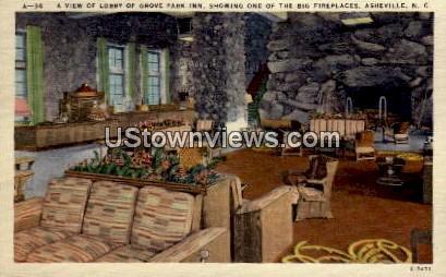 Lobby, Grove Park Inn  - Asheville, North Carolina NC Postcard
