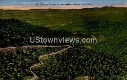 Craggy Gardens Highway - Asheville, North Carolina NC Postcard