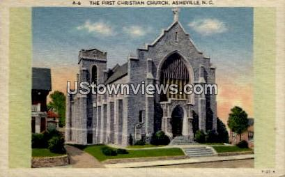 The First Christian Church - Asheville, North Carolina NC Postcard