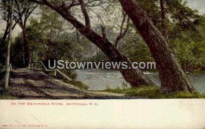 On the Swannanoa River - Asheville, North Carolina NC Postcard