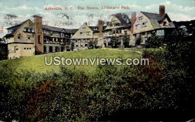 The Manor, Albemarle Park - Asheville, North Carolina NC Postcard