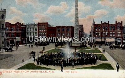 Pack Square - Asheville, North Carolina NC Postcard