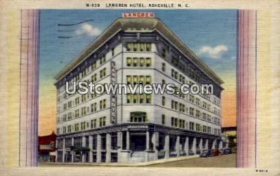 Langren Hotel - Asheville, North Carolina NC Postcard
