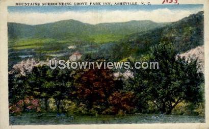 Mountains Surrounding Grove Park Inn - Asheville, North Carolina NC Postcard