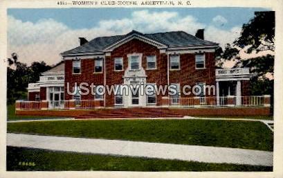 Women's Club-House - Asheville, North Carolina NC Postcard