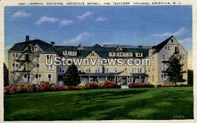 Asheville Normal & Teacher's College - North Carolina NC Postcard