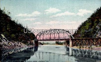 Railroad Bridge on the French Broad - Asheville, North Carolina NC Postcard