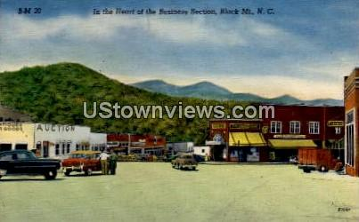 In the Heart of the Business Section - Black Mountain, North Carolina NC Postcard