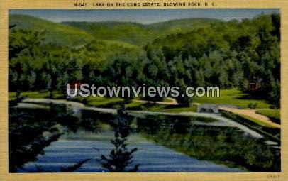 Lake on the Cone Estate - Blowing Rock, North Carolina NC Postcard