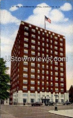 WM. R. Barringer Hotel - Charlotte, North Carolina NC Postcard