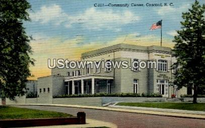 Community Center - Concord, North Carolina NC Postcard