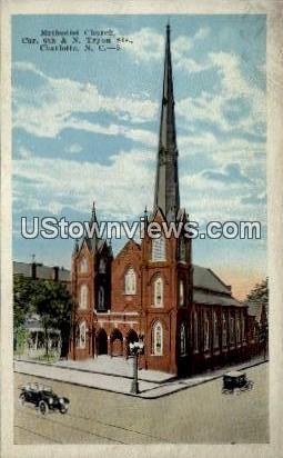 Methodist Church - Charlotte, North Carolina NC Postcard