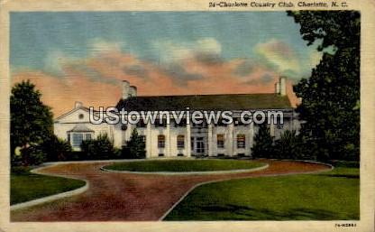Charlotte Country Club - North Carolina NC Postcard