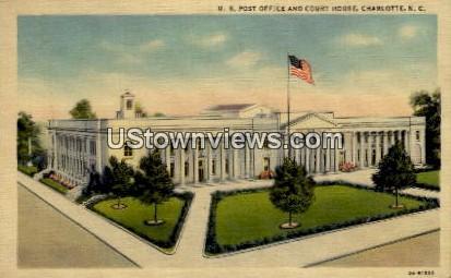 U.S. Post Office and Court House - Charlotte, North Carolina NC Postcard