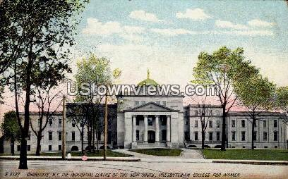 Presbyterian College for Women - Charlotte, North Carolina NC Postcard