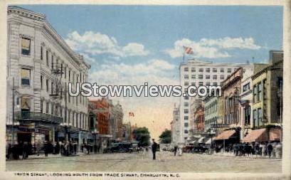 Tryon Street - Charlotte, North Carolina NC Postcard