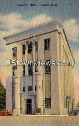 Masonic Temple - Charlotte, North Carolina NC Postcard