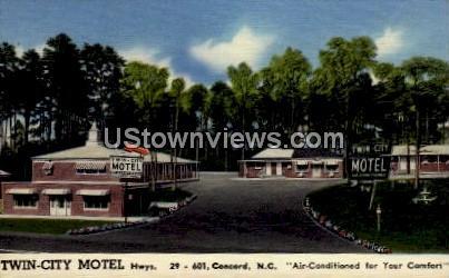 Twin-City Motel - Concord, North Carolina NC Postcard