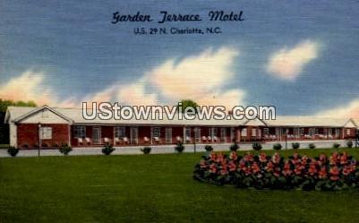 Garden Terrace Motel - Charlotte, North Carolina NC Postcard