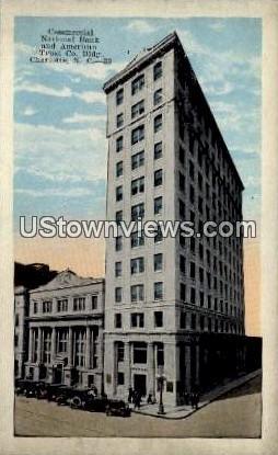 Commercial National Bank - Charlotte, North Carolina NC Postcard