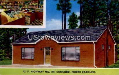 U.S. Highway No. 29 - Concord, North Carolina NC Postcard