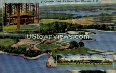 Observer Fresh Air Camp - Charlotte, North Carolina NC Postcard