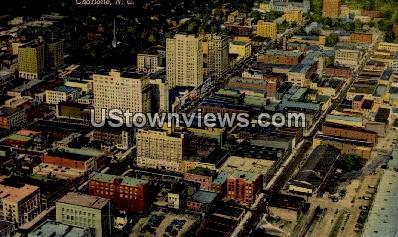 Main Business Section - Charlotte, North Carolina NC Postcard