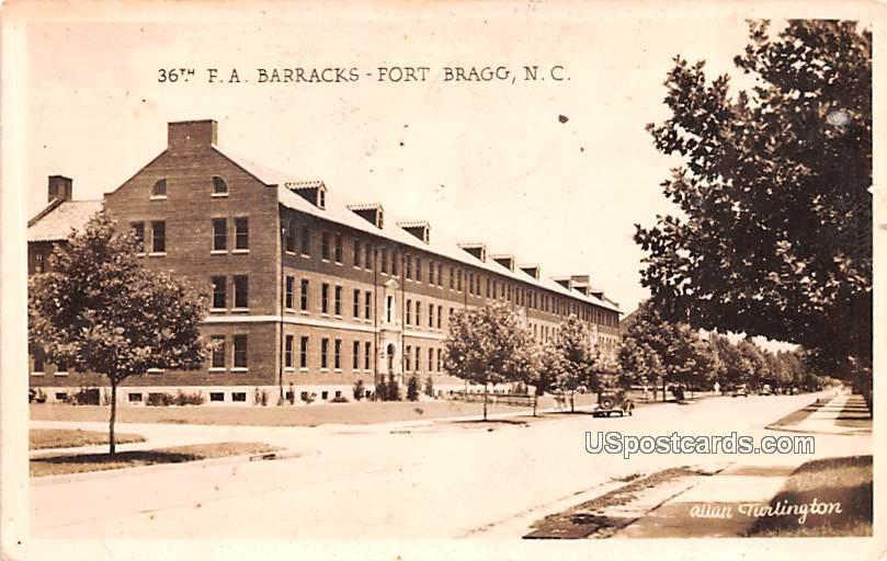 36th FA Barracks - Fort Bragg, North Carolina NC Postcard
