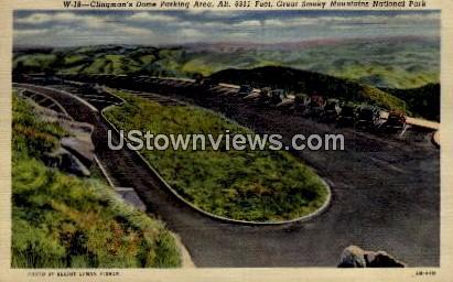 Clingman's Dome Parking Area - Great Smoky Mountains National Park, North Carolina NC Postcard